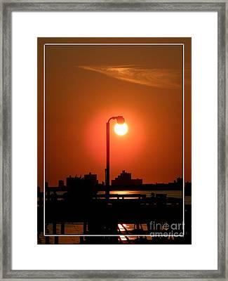Deck Lamp Framed Print by Laurence Oliver
