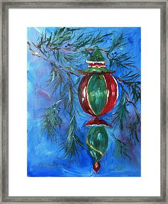 Framed Print featuring the painting Deck The Halls by Carol Berning