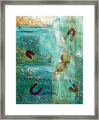 Framed Print featuring the painting Declination by D Renee Wilson