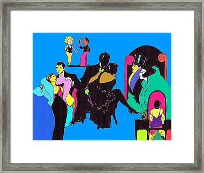 Deco Ads Color Framed Print by Mel Thompson