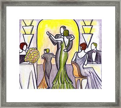 Deco Nightclub Framed Print by Mel Thompson