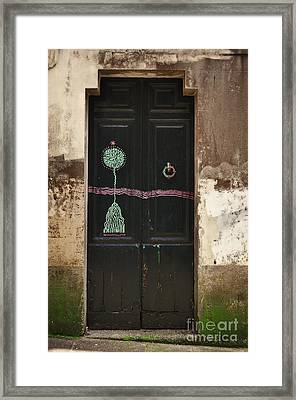 Decorated Door Framed Print by Mary Machare