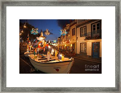 Decorated Fishing Boats Framed Print by Gaspar Avila