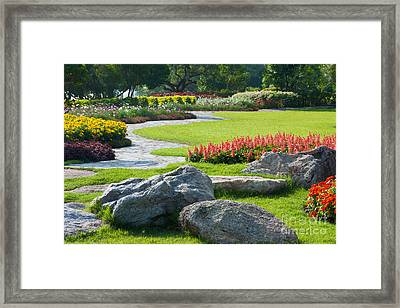 Decoration In Park Framed Print by Atiketta Sangasaeng