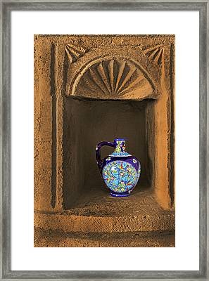 Decorative Carafe In An Alcove Framed Print by Kantilal Patel