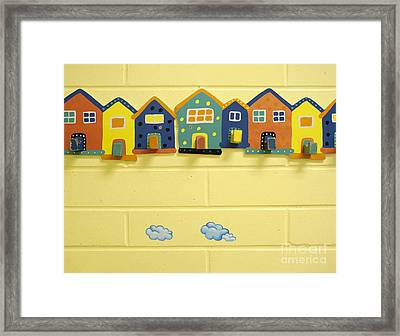 Decorative Coat Hooks Framed Print