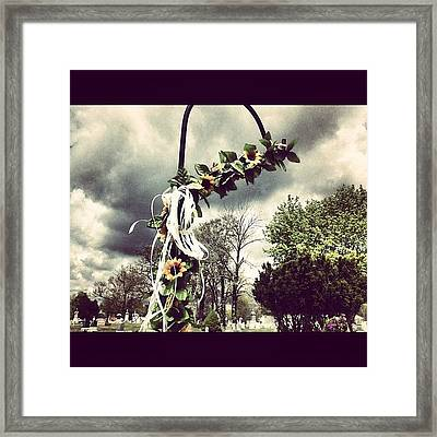 #decorative #decoration #cemetery Framed Print