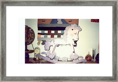Decorative Horse Framed Print by Val Oconnor