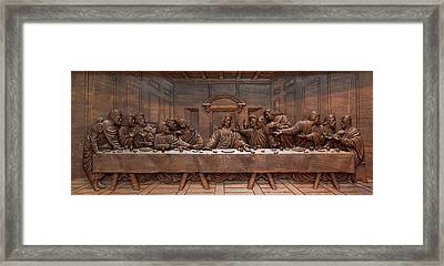 Decorative Panel - Last Supper Framed Print by Goran