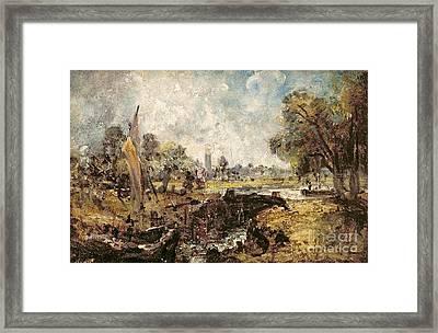 Dedham Lock Framed Print by John Constable