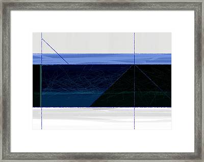 Deep Blue Framed Print by Naxart Studio