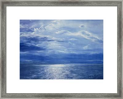 Deep Blue Sea Framed Print by Antonia Myatt