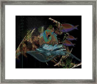 Deep Contemplation - Innere Einkehr Framed Print
