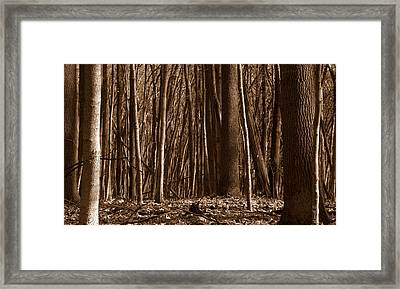Deep Dark Dense Framed Print