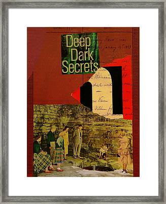 Deep Dark Secrets Framed Print by Adam Kissel