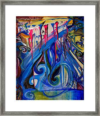Deep Drips  Framed Print by Tifanee  Petaja
