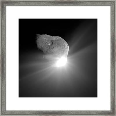 Deep Impact Comet Strike Framed Print