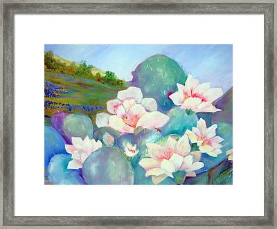 Framed Print featuring the painting Deep In The Heart Of Texas by AnnE Dentler