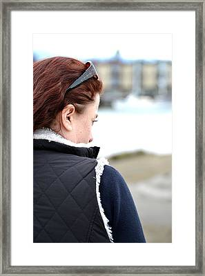 Deep In Thought Framed Print by Angel Chovanec