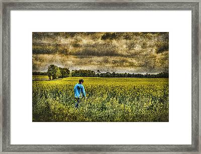 Deep In Thought Framed Print by Kathy Clark
