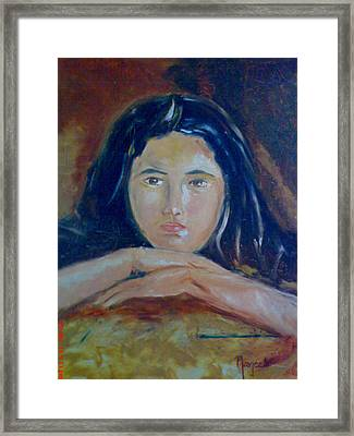 Deep In Thoughts Framed Print by Navjeet Gill