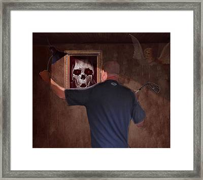 Deep Into The Mirror Framed Print