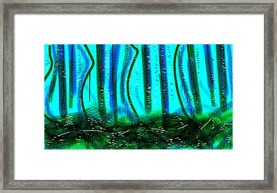 Deep Sea Framed Print by Rosana Ortiz