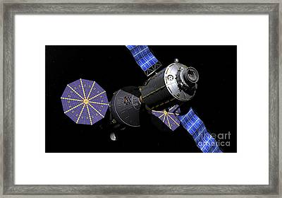 Deep Space Vehicle And Extended Stay Framed Print by Walter Myers