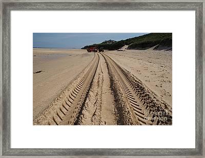 Deep Tracks - Soft Sand Framed Print by Keith Sutton