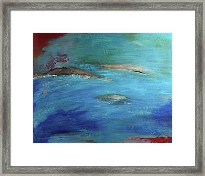Framed Print featuring the painting Deep Waters by Jan Swaren