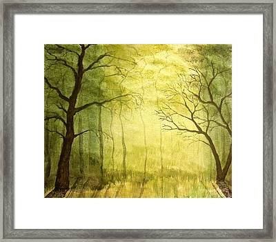 Deep Woods Framed Print by Heather Matthews