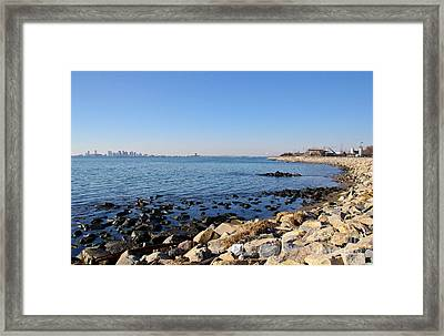 Deer Island Coast Framed Print by Extrospection Art