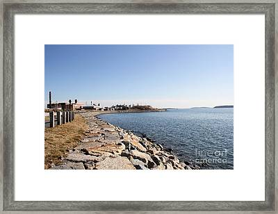 Deer Island Trail Framed Print by Extrospection Art