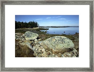 Deer Isle Granite Shoreline Framed Print by Thomas R Fletcher