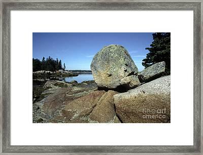 Deer Isle Granite Framed Print by Thomas R Fletcher