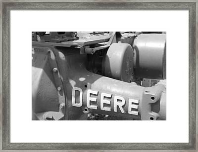 Deere Bw Framed Print