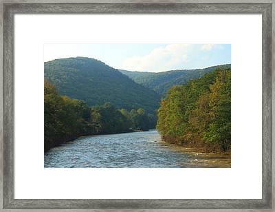 Deerfield River Valley Evening Light Framed Print by John Burk
