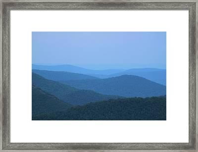Deerfield River Valley Mist Berkshires Framed Print by John Burk