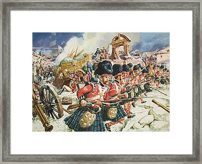Defence Of Corunna Framed Print by C L Doughty