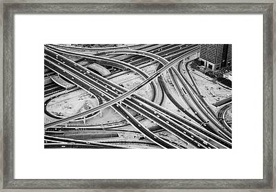 Defence Roundabout In Dubai Framed Print