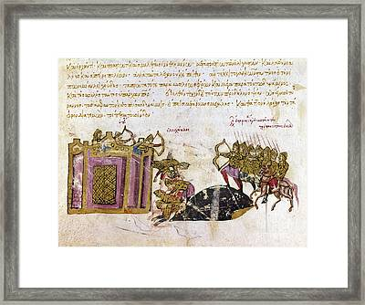 Defense Of Constantinople Framed Print by Granger