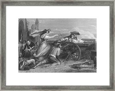 Defense Of Saragossa, 1808 Framed Print