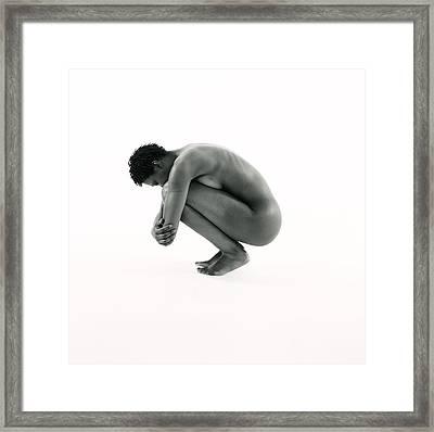 Defensive Woman Framed Print