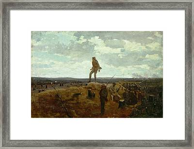 Defiance - Inviting A Shot Before Petersburg Framed Print
