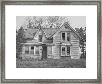 Framed Print featuring the photograph Defiance B/w by Bonfire Photography