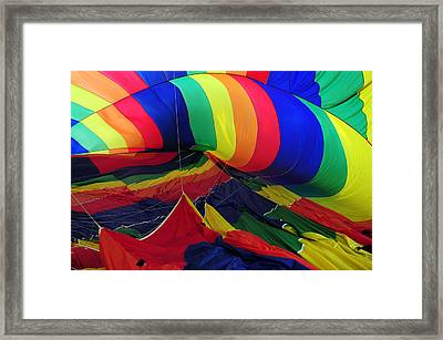 Deflated Framed Print by Mike Martin