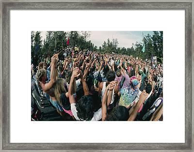 Deforestation Protest, Hawaii Framed Print by G. Brad Lewis