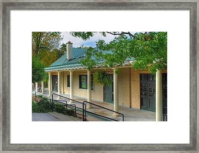 Framed Print featuring the photograph Delaware Park Casino by Michael Frank Jr