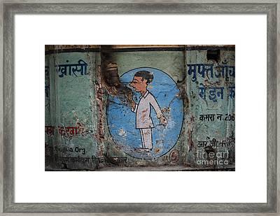 Delhi Smoker Framed Print by Jen Bodendorfer