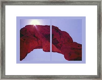Delicate Arch Diptych Framed Print by Steve Ohlsen